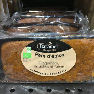 pain épice bio gingembre pistache citron