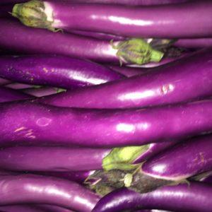 longue aubergine
