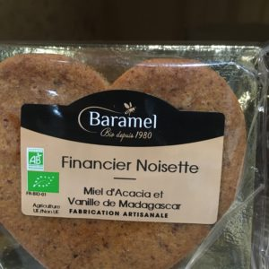 financier coeur noisette